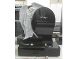China Black Angel Headstone for
