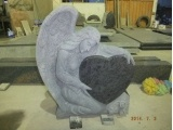 Carved And Sandblasted Angel Headstone