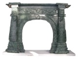 Olive Green Granite Decorative Fireplace