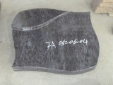 Polished Blue Granite Lying Headstone